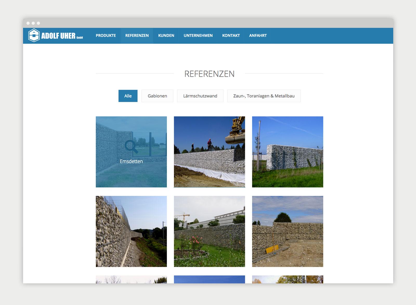 Adolf Uher Website Referenzen
