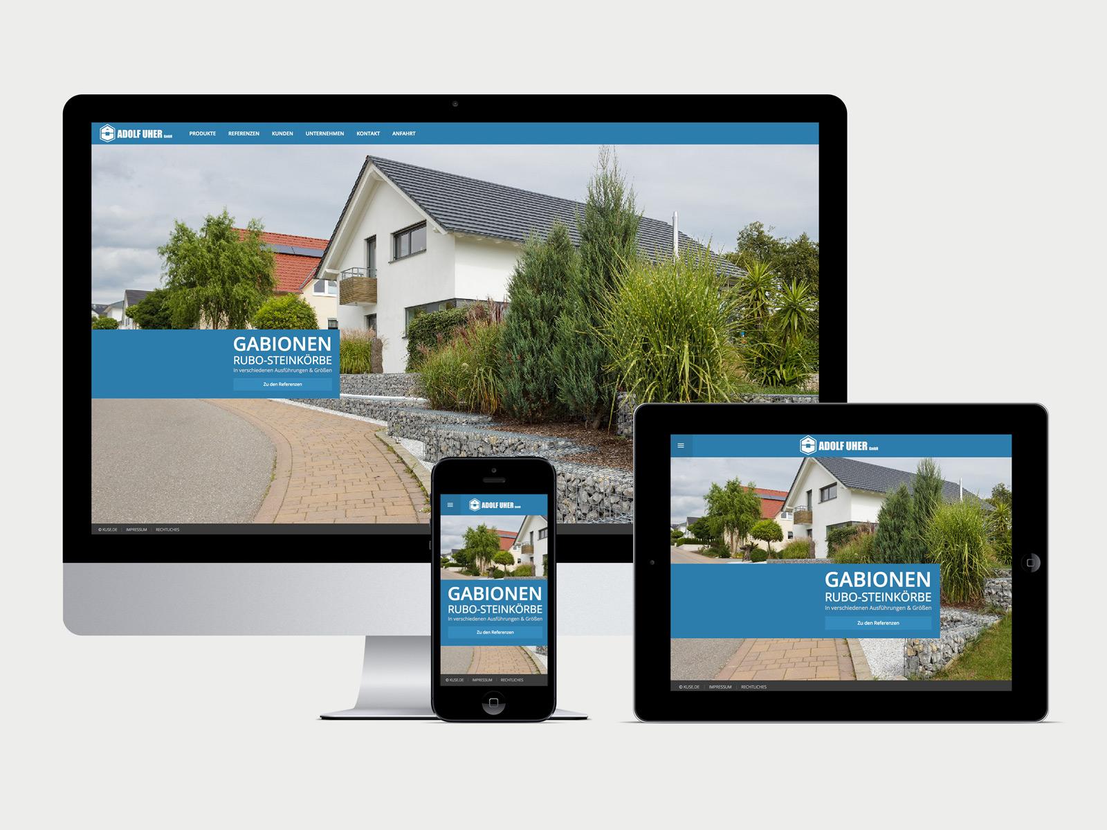 Adolf Uher Website Startseite responsive