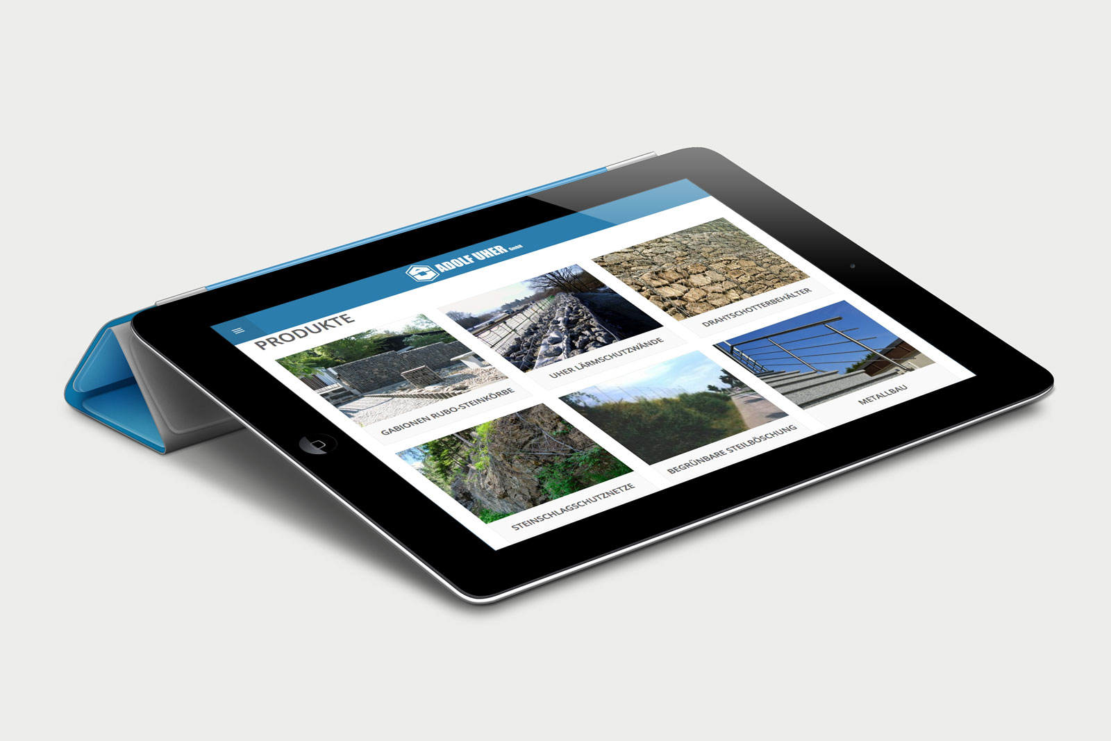 Adolf Uher Website Produkte responsive