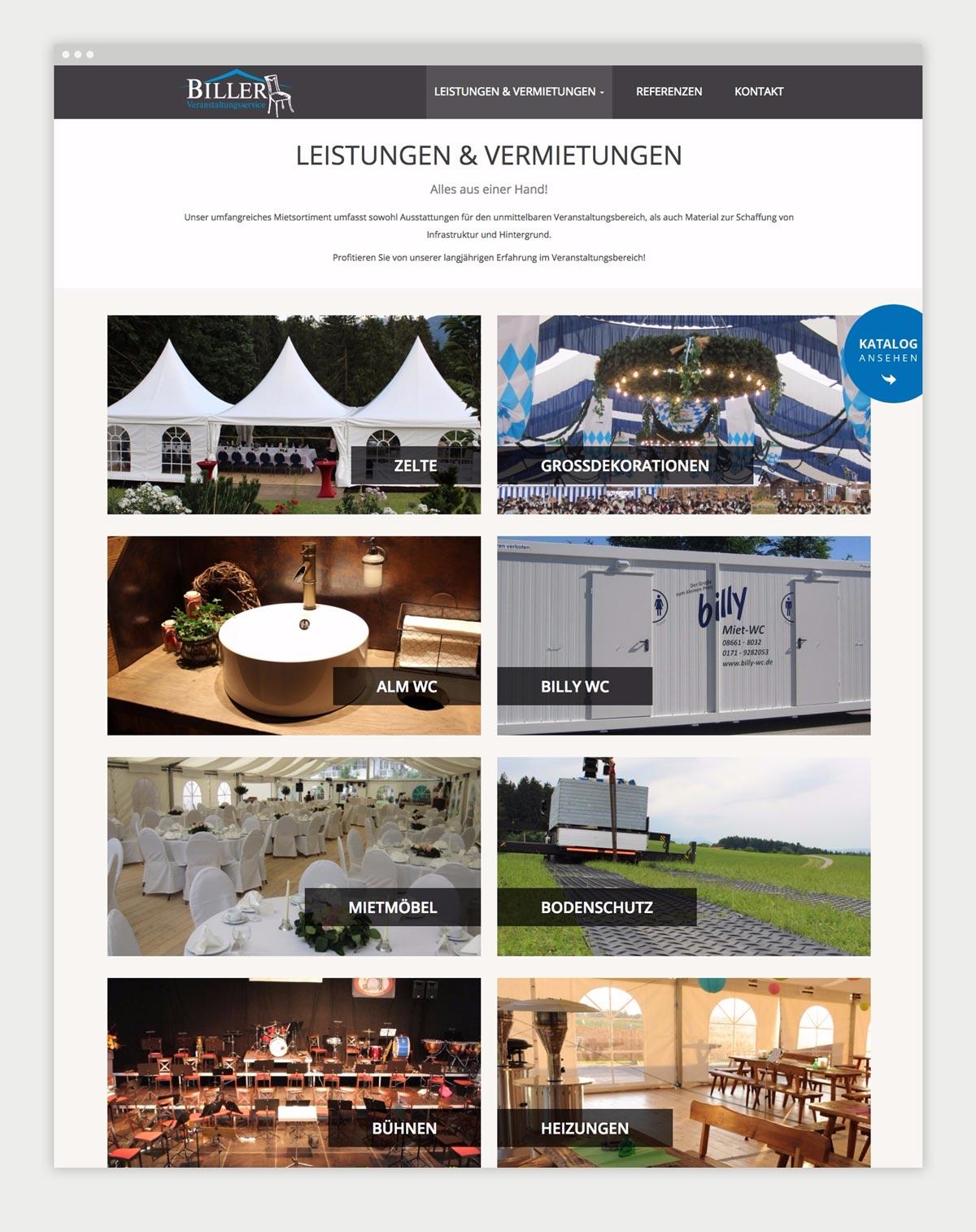 Contentseite von Biller Veranstaltungsservice