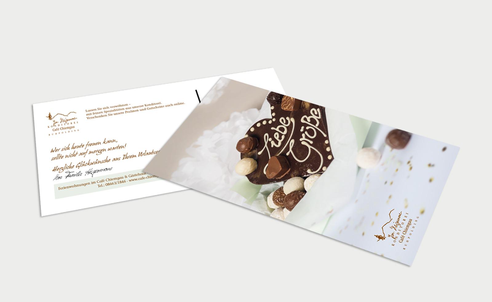 Café Chiemgau Ruhpolding Geburtstagskarte
