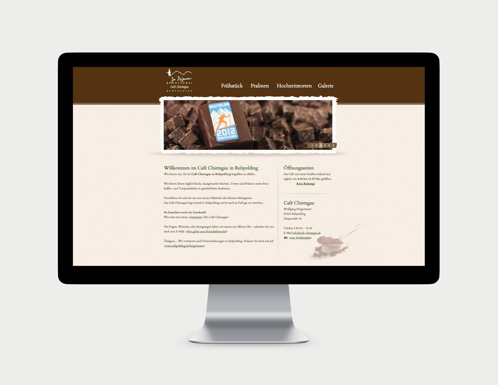Café Chiemgau Ruhpolding Website Übersicht