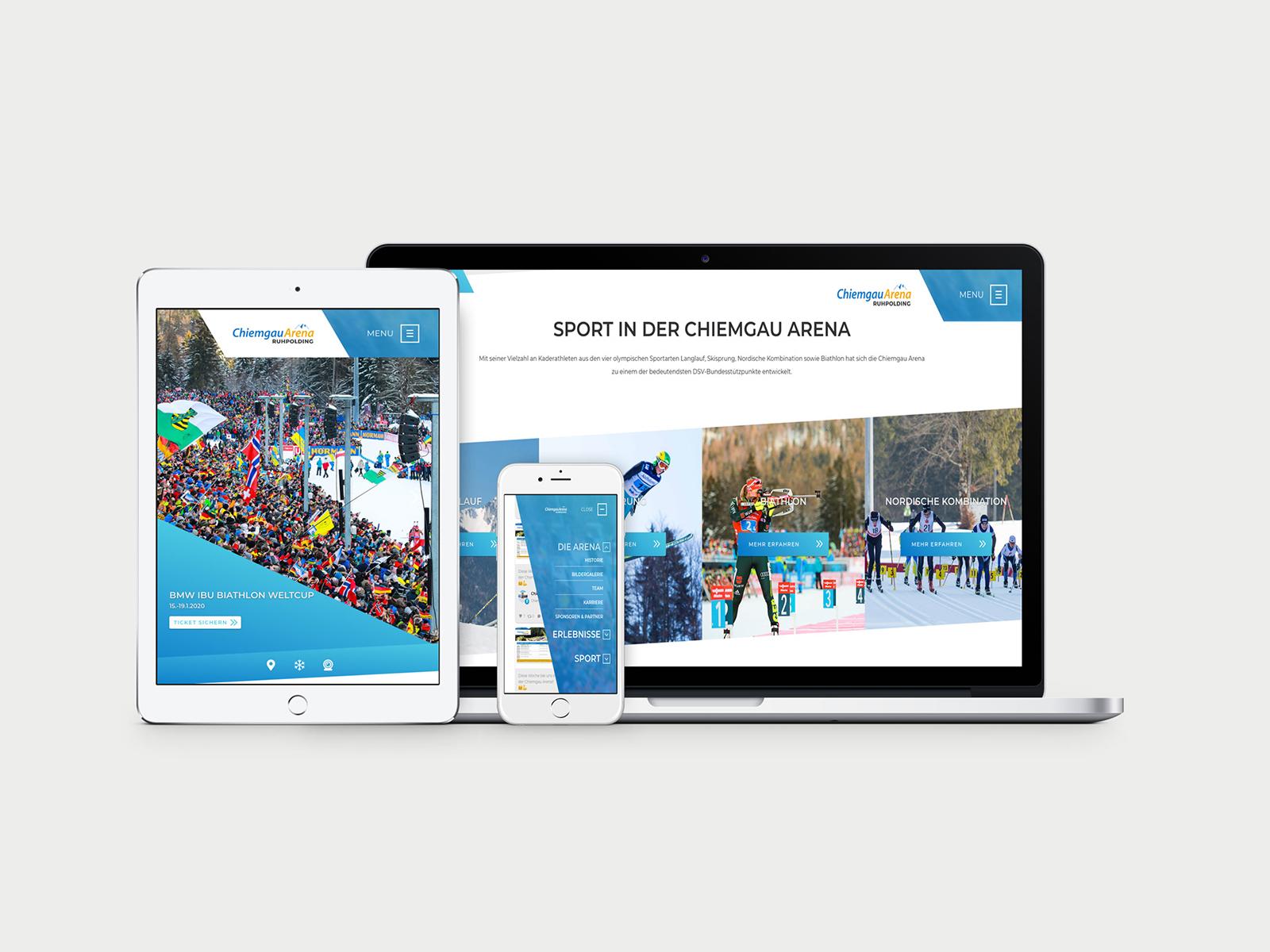 Website Relaunch Chiemgau Arena Ruhpolding