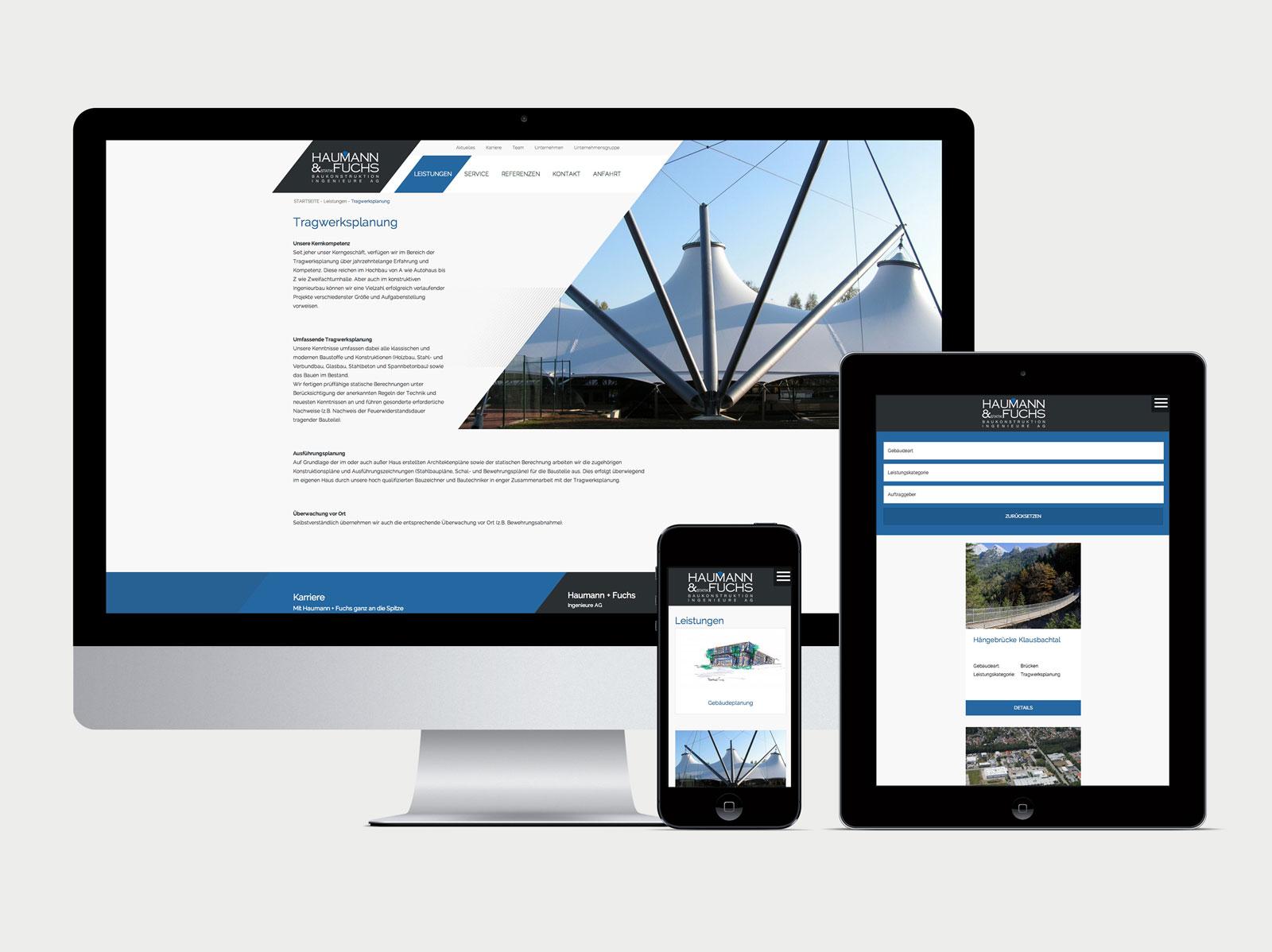Website Haumann & Fuchs Übersicht