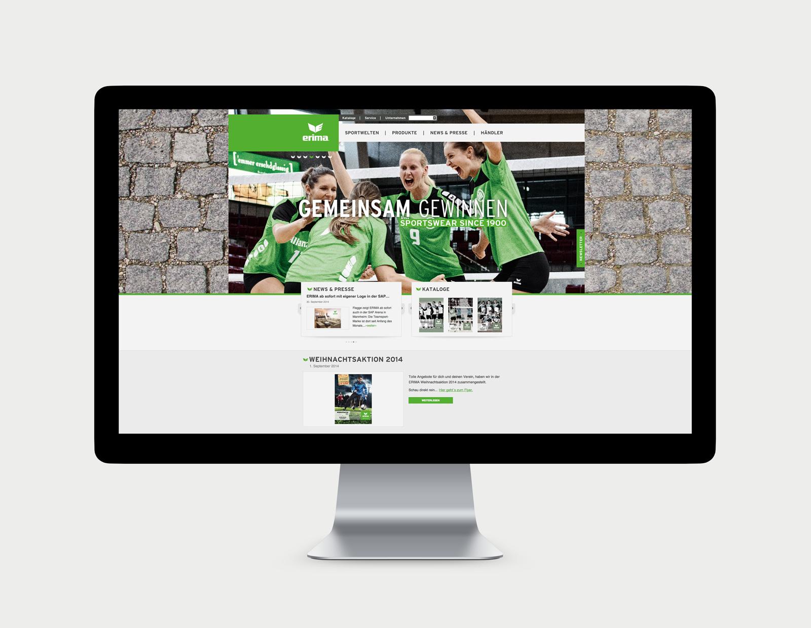 Startseite - Erima Website