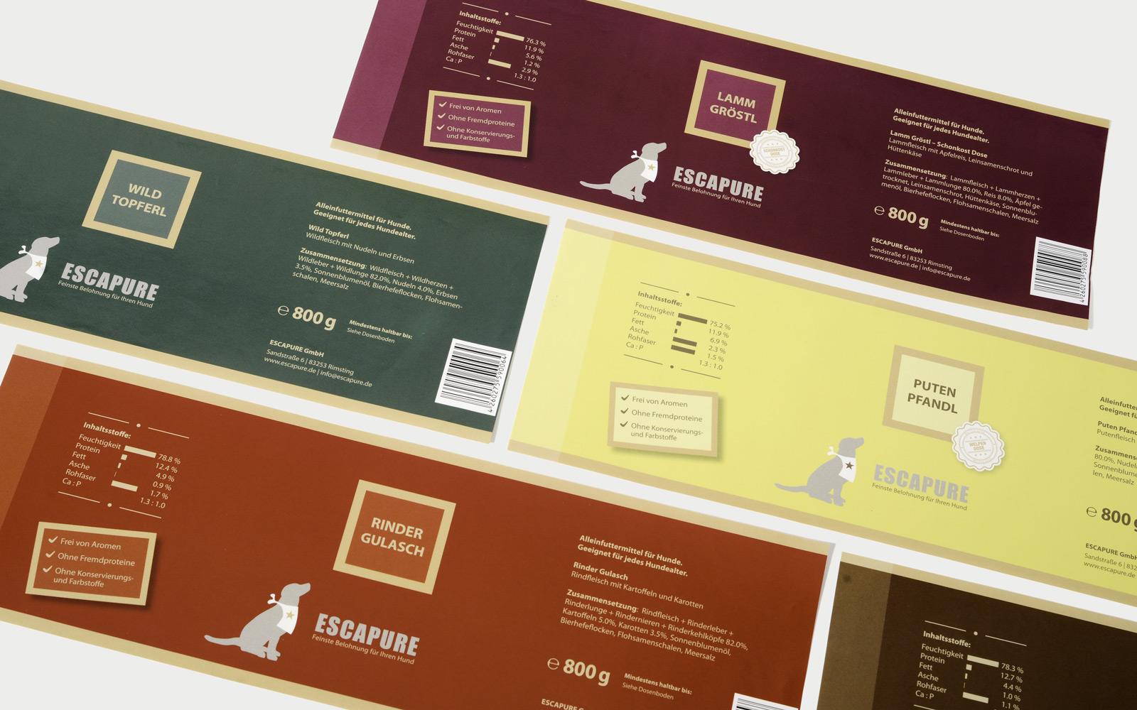 Etiketten Verpackungsdesign