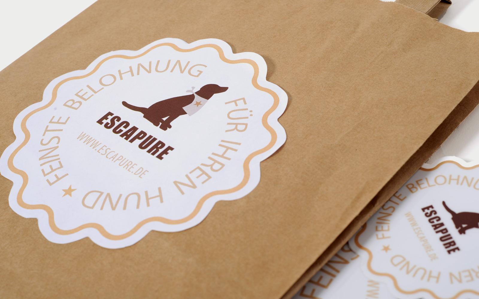 Papiertüten Verpackungsdesign
