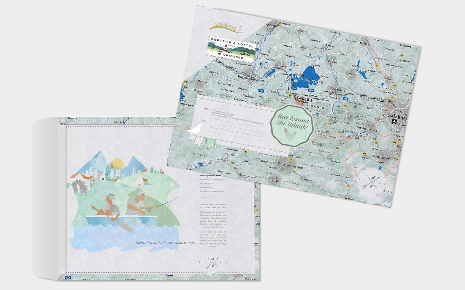 Markt Grassau Briefkuverts