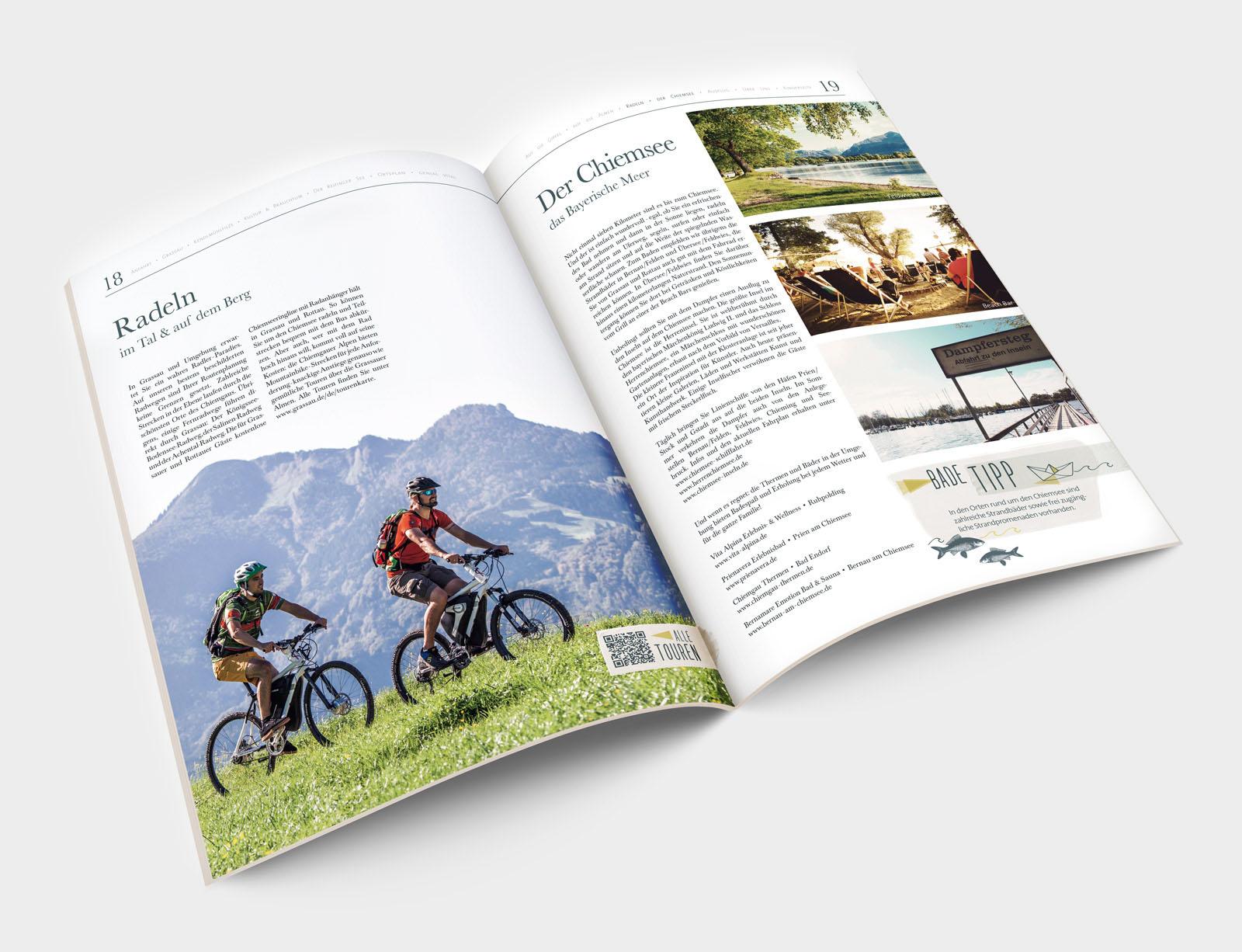 Markt Grassau Imagezeitung Innenseite Radeln und Chiemsee