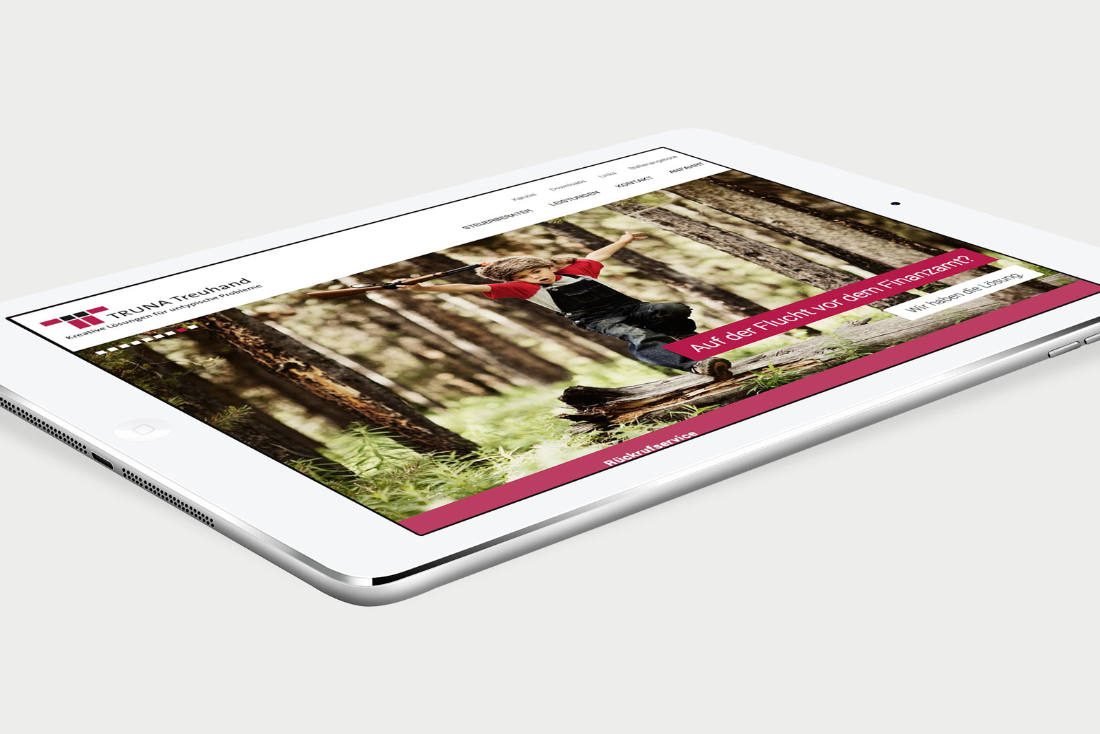 Truna Treuhand Website iPad Ansicht