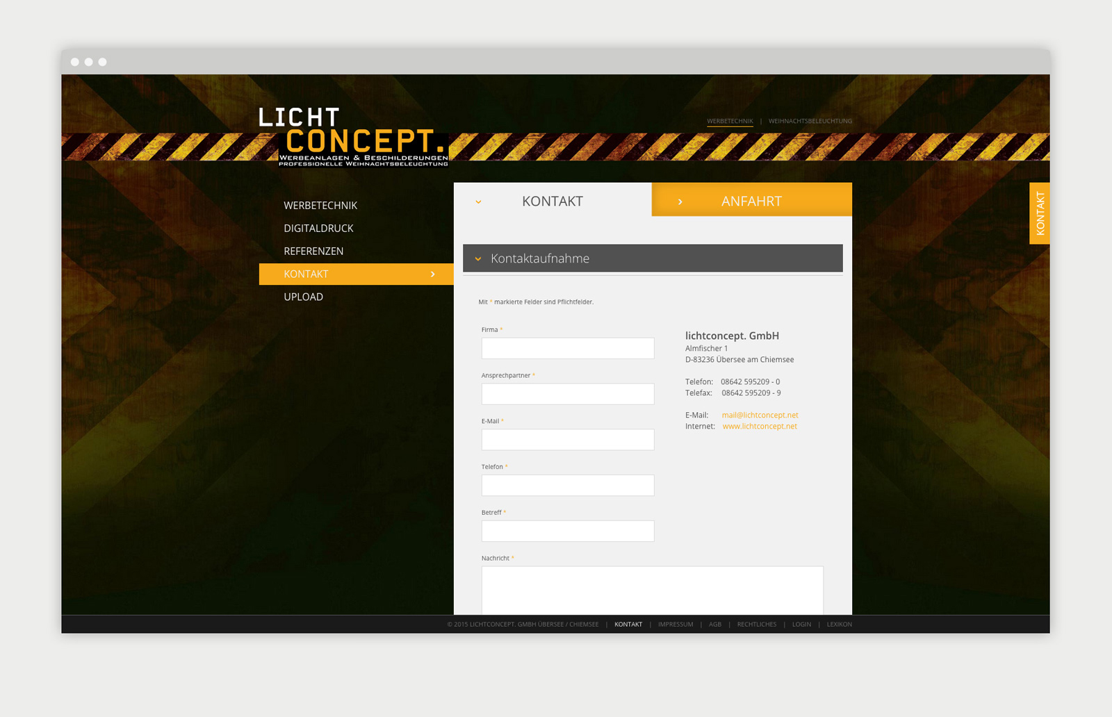 Lichtconcept Kontaktseite