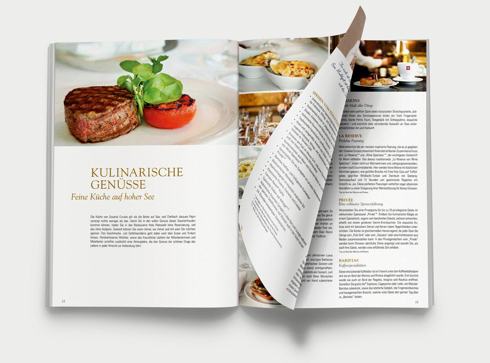 Oceania Cruises Kreuzfahrten Katalog Kulinarik