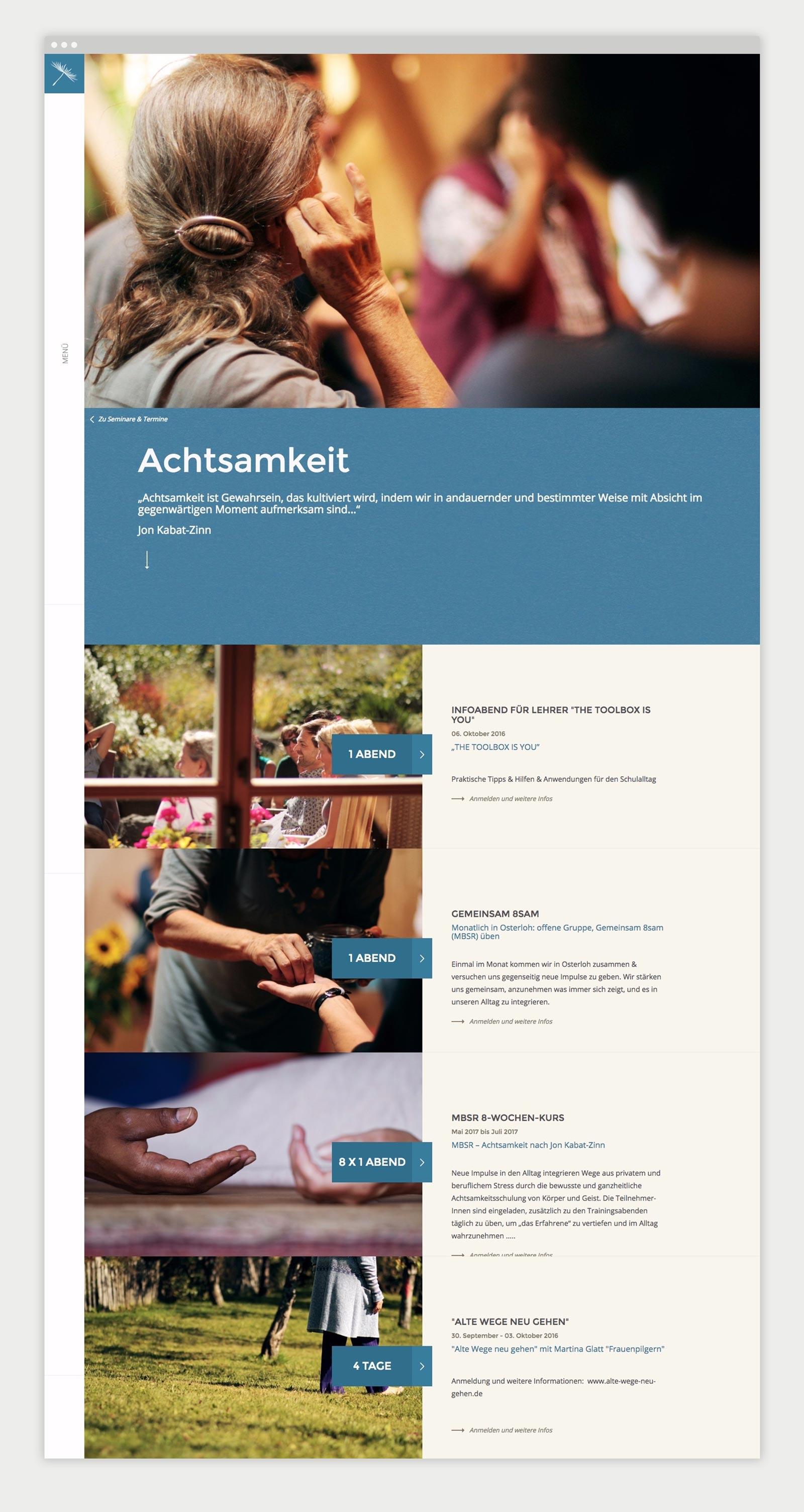 Detailseite der Kurse von achtsamkeit-osterloh.org