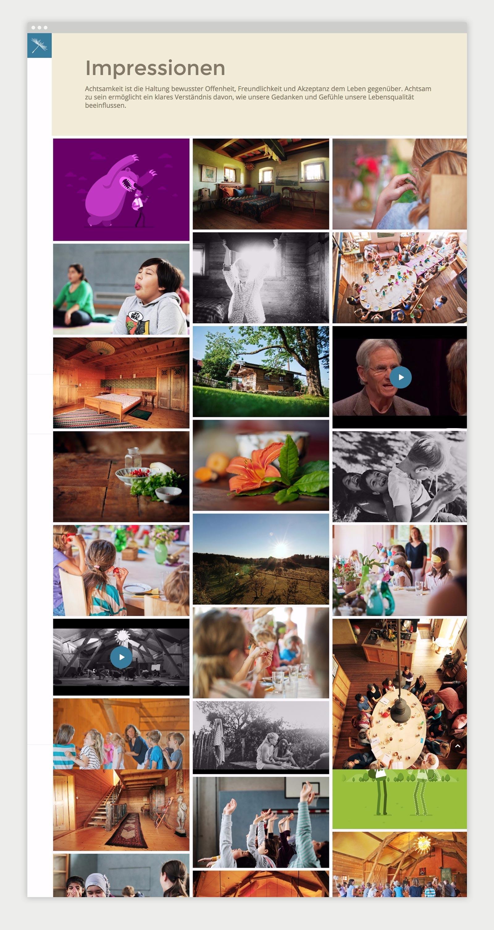 Übersichtsseite Impressionen von achtsamkeit-osterloh.org