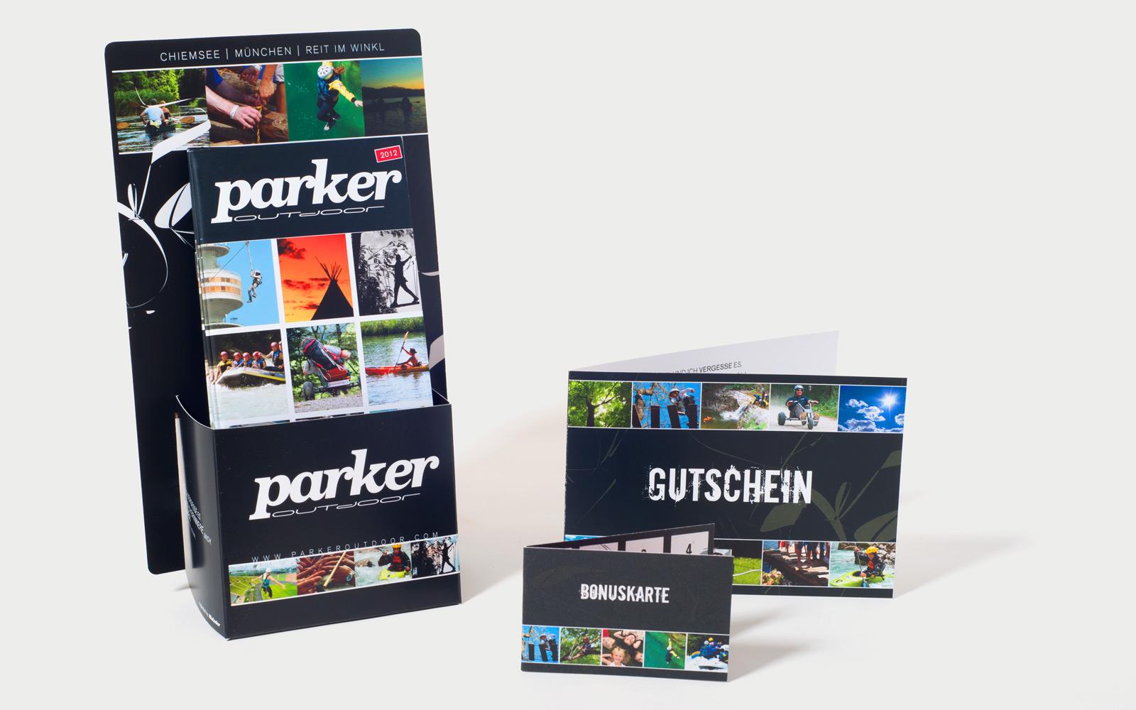 Parker Outdoor Aufsteller für Flyer