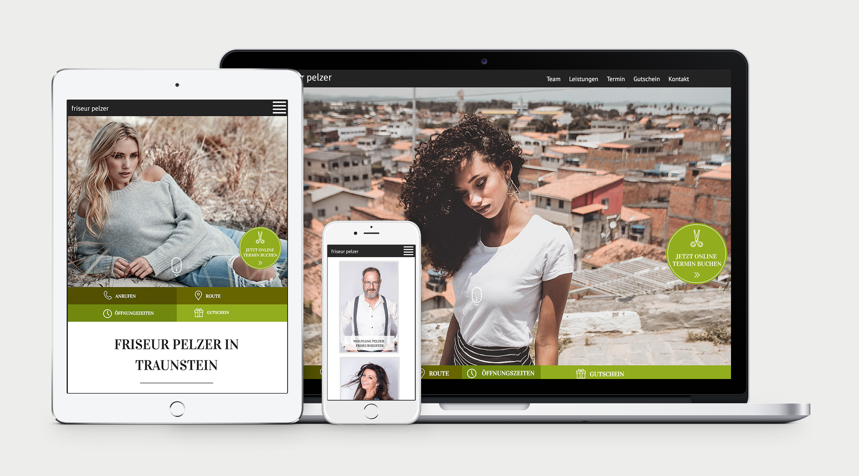 Friseur Pelzer Website | Onepager