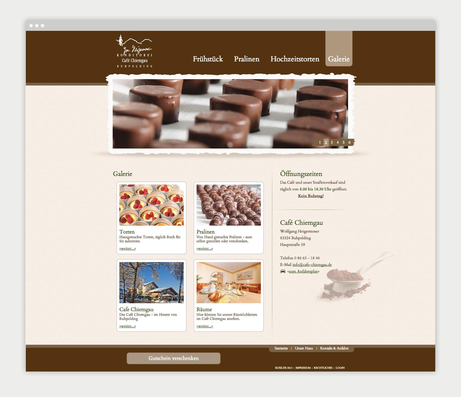 Café Chiemgau Ruhpolding Website Detailseite