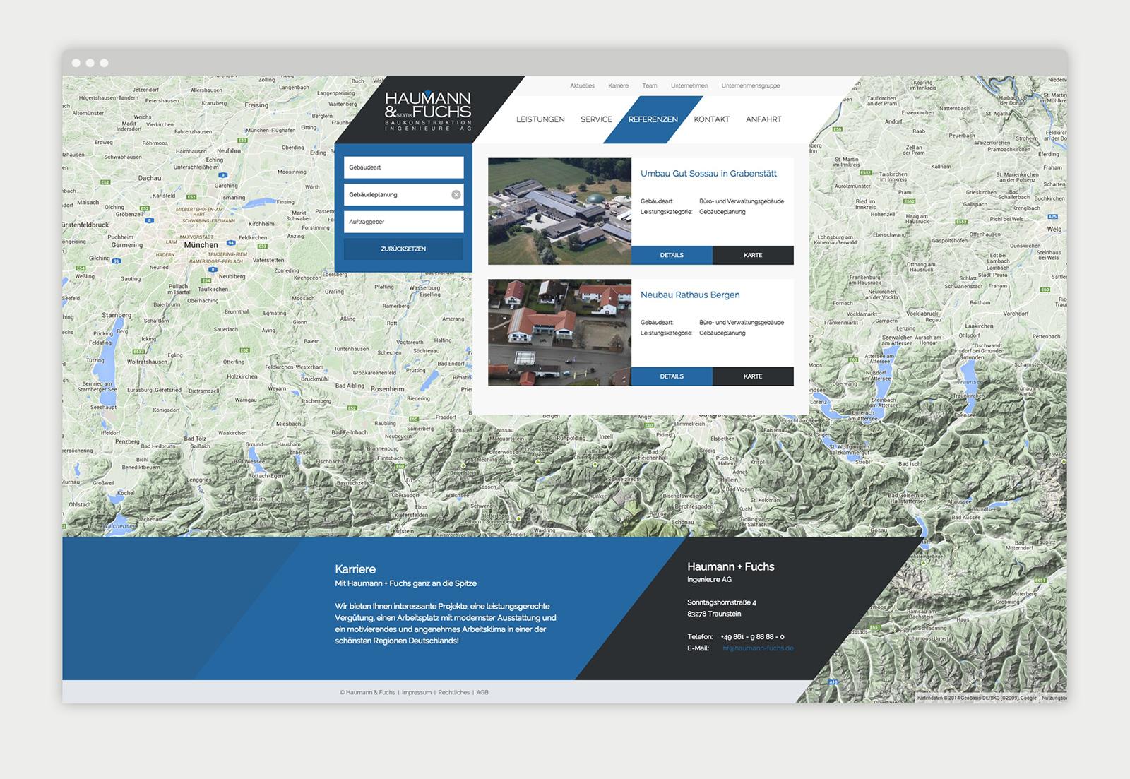 Website Haumann & Fuchs Detailansicht