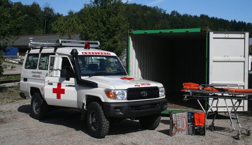 Neuer Ambulanzwagen für den Aktionskreis Ostafrika