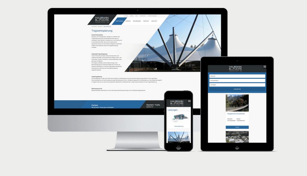 Website Haumann und Fuchs - Mockup Referenz