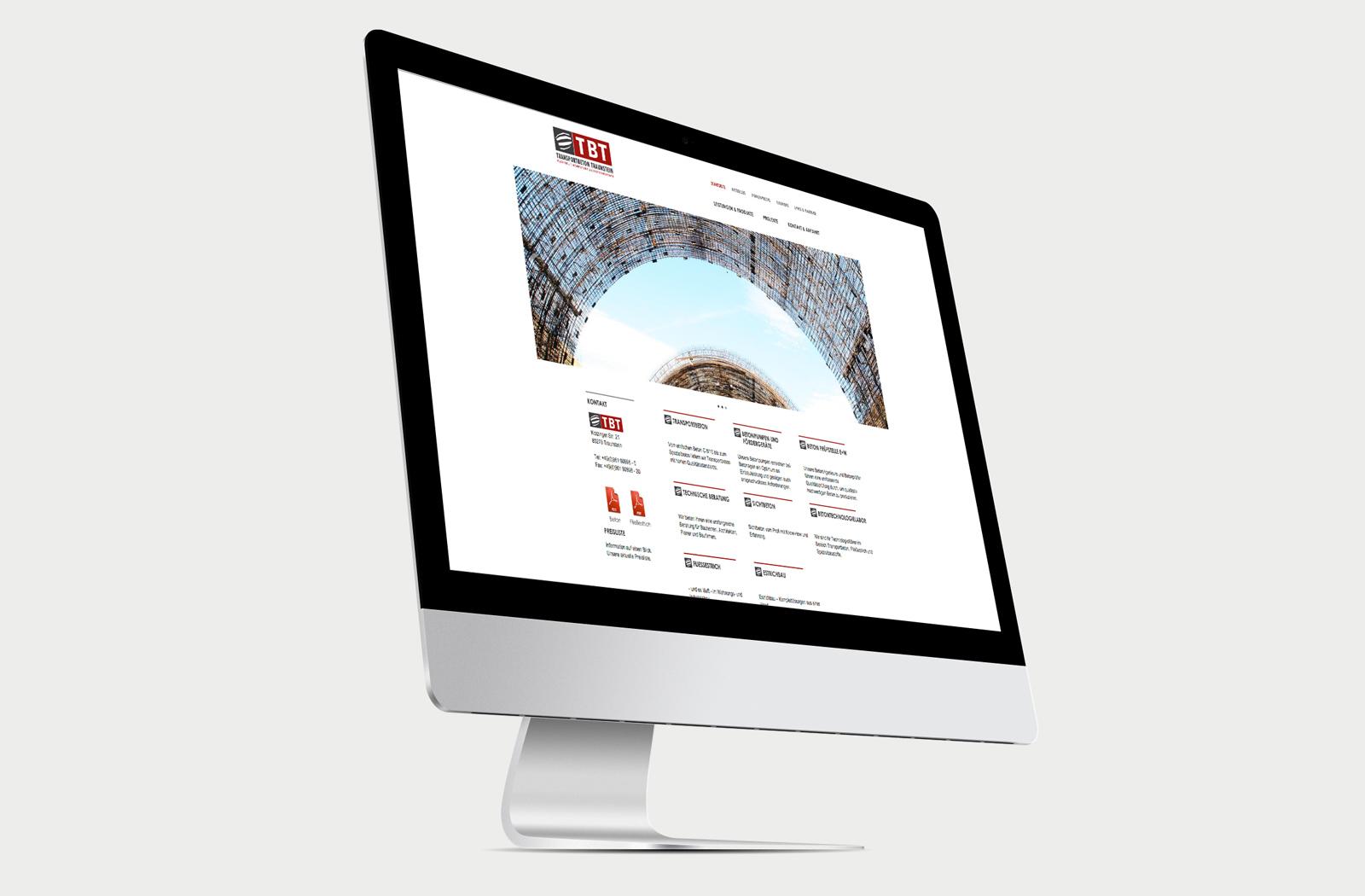 Transportbeton Traunstein Website Mockup 1