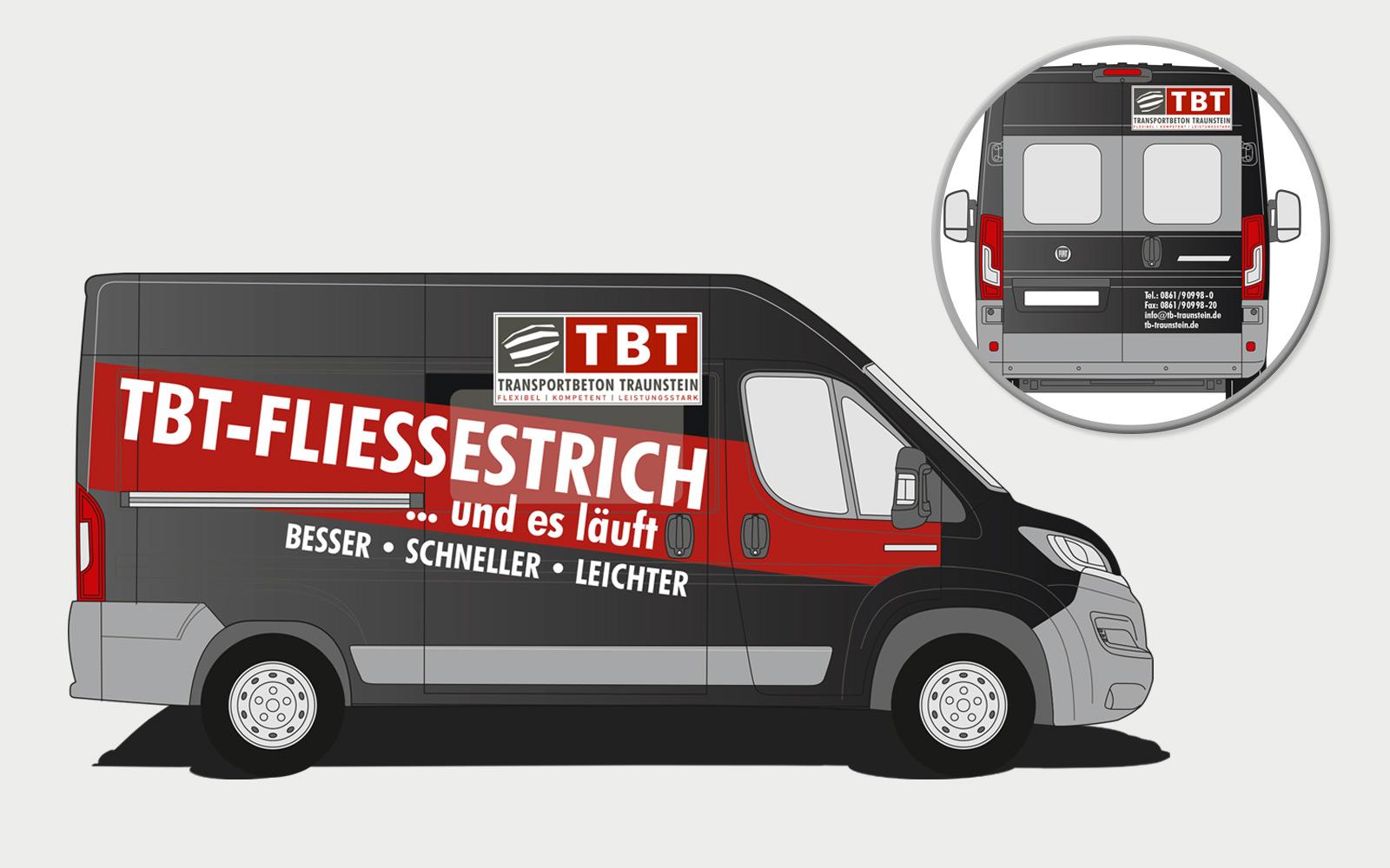 Transportbeton Traunstein Fahrzeugbeschriftung