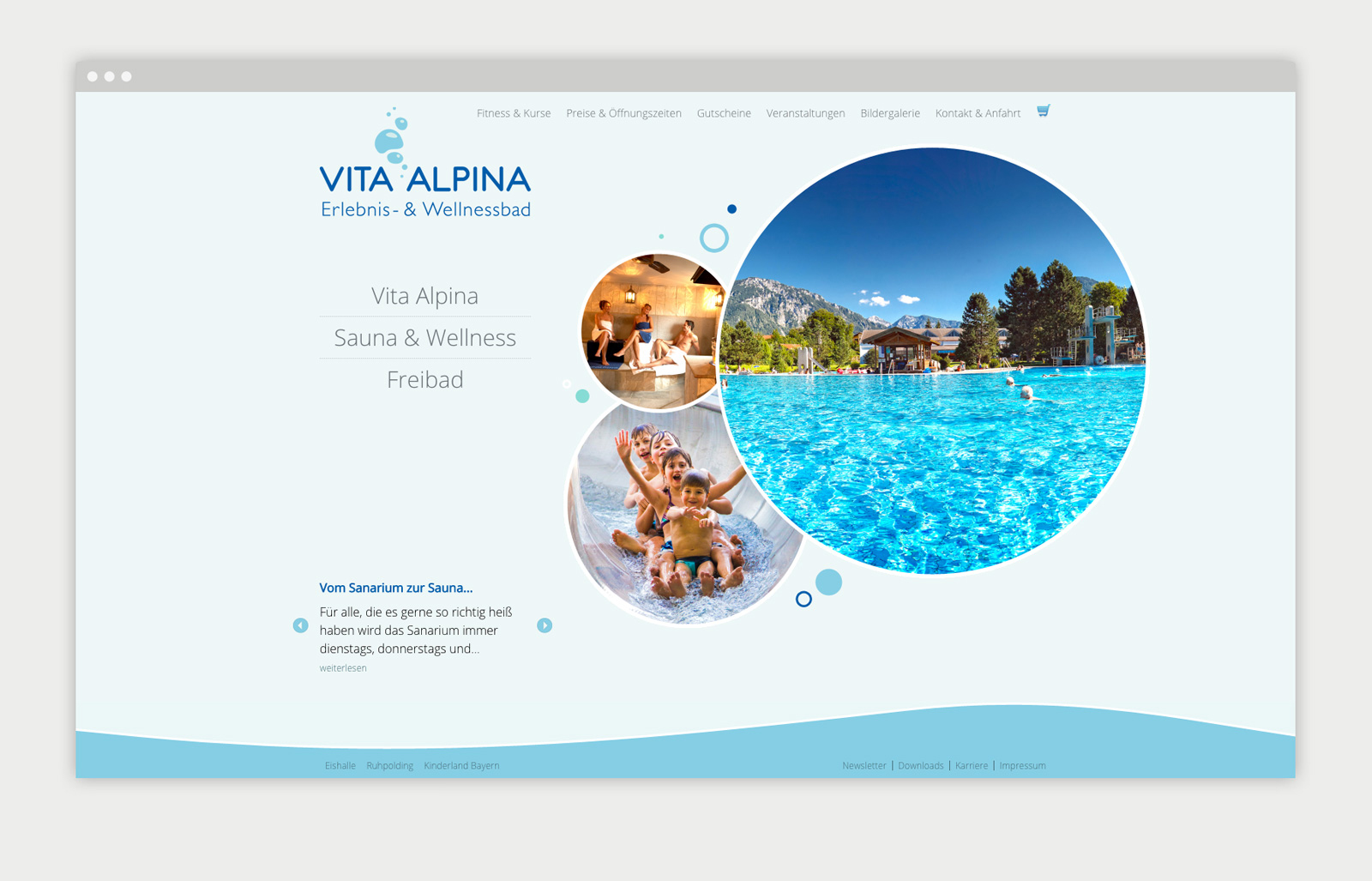 Vita Alpina Website Übersicht